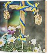 Midsummer Pole Wood Print