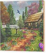 Midsummer's Joy Wood Print