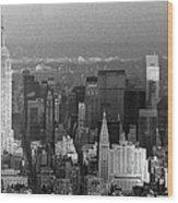 Midtown Manhattan 1980s Wood Print