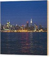 Midtown Manhattan Skyline View Wood Print