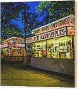 Midway Eats Wood Print