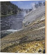 Midway Geyser Runoff Wood Print