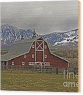 Midway Ranch Barn Wood Print