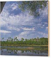 Midway Reservoir Wood Print