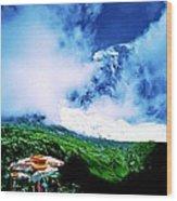 Le Milieu De Mont Blanc   Wood Print