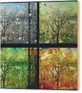 Midwest Seasons Collage Wood Print