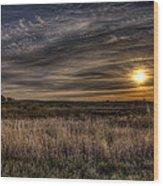 Midwest Sunrise Wood Print