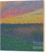 Midwest Sunset Wood Print
