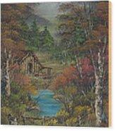 Midwestern Landscape Wood Print