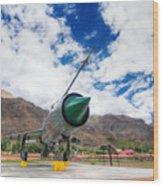 Mig-21 Fighter Plane Of Indian Air Force Used In Kargil War Displayed As Victorious Memory Wood Print