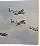 Mighty 8th P51 Mustangs  Wood Print by Pat Speirs