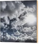 Mighty Clouds Wood Print