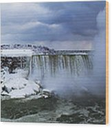 Mighty Cold Niagara Wood Print