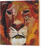 Mighty Lion Wood Print
