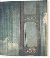 Michigans Mackinac Bridge Wood Print