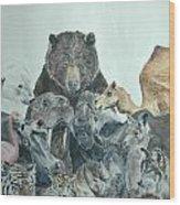 Mika Animals Wood Print