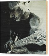Mike And His Guitar Wood Print