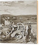 Mike Noon Monterey Whaler On Montereys Wharf  Circa 1890 Wood Print