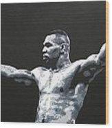 Mike Tyson 1 Wood Print