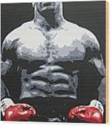 Mike Tyson 10 Wood Print