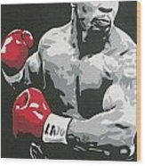 Mike Tyson 2 Wood Print