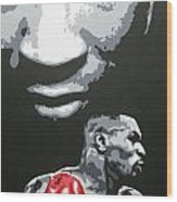 Mike Tyson 4 Wood Print