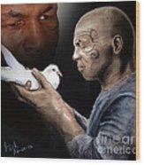 Mike Tyson And Pigeon II Wood Print