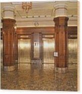 Milam Building Elevators Wood Print