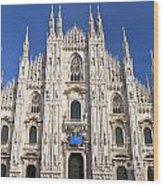 Milan Cathedral  Wood Print by Antonio Scarpi
