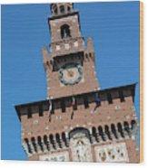 Milan, Italy. Castello Sforzesco Wood Print