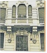 Milan Vintage Building Wood Print