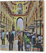 Milano Shopping Center 3 Wood Print