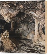 Milatos Cave Wood Print by Luis Alvarenga