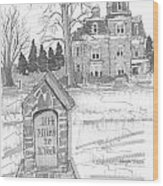 Mile Marker And Victorian Wood Print