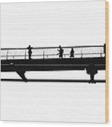 Milennium Bridge In London Wood Print