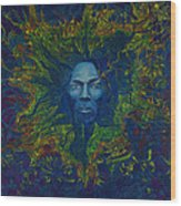 Miles. Aura. Into Creation Wood Print