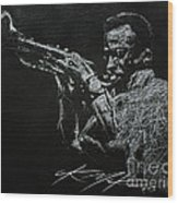 Miles Wood Print by Chris Mackie