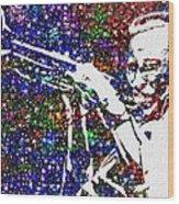 Miles Davis Wood Print by Jack Zulli