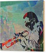 Miles Davis Jazzman Wood Print