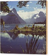 Milford Sound In New Zealand's Fiordland National Park Wood Print