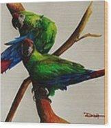 Military Macaws Wood Print