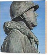 Military Soldier Wood Print