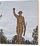 Military Soldier Memorial Wood Print