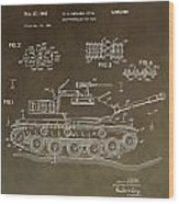 Military Tank Patent Wood Print