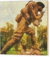 Military Ww I Doughboy 01 Photo Art Wood Print