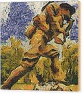Military Ww I Doughboy 02 Photo Art Wood Print