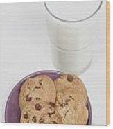 Milk And Cookies Wood Print by Greenwood GNP