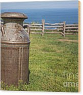 Milk Churn Wood Print