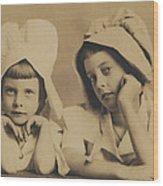 Milkmaid Sisters Wood Print