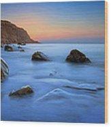 Milky Blue Wood Print by Mark Leader
